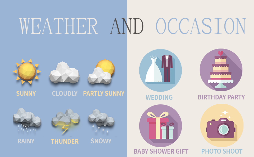 weather and occasion