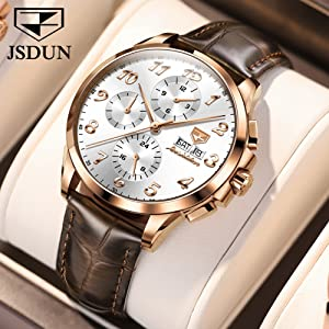 Brown Leather Watches for Mens
