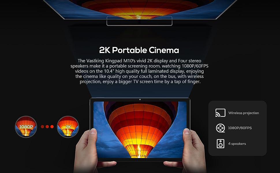 KingPad series tablet 10.4 inch 2K screen resolution