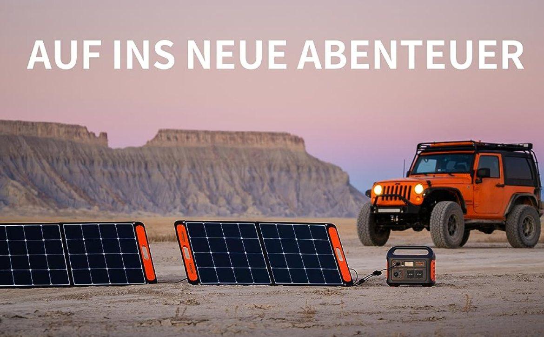 Jackery Explorer Week: Solarsogar 100W Solarpanel Solarmodule für Generator Powerstation