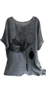 Comfy Linen Tunic Blouses