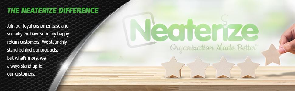 neaterize portable file organizer desktop file organizer standing desktop file box