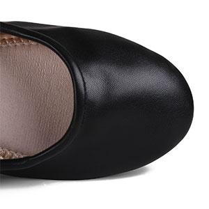 round toe flat shoes