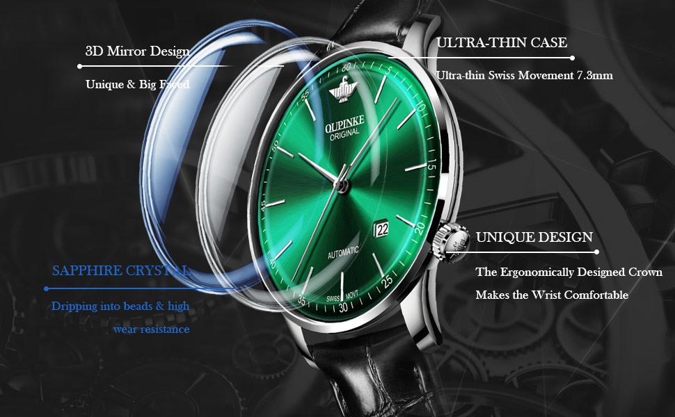 Mens Watches Tungsten Steel Automatic Mechnical Skeleton