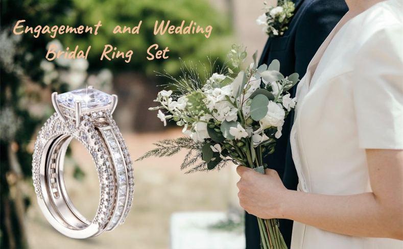 Wedding Bridal Ring Set for Women