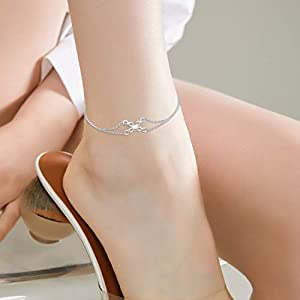 anklets for women sterling silver
