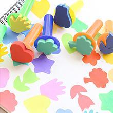 Pezzi Pennelli Spugna per Pittura Set per Bambini, Pennello da Disegno per Bambini