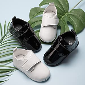 Infant Baby Boys Girls Classic PU Leather Wedding Loafers