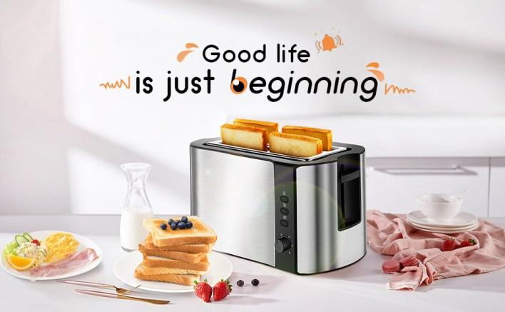 toaster 2 slice black toaster' bread bagel extra wide slot toast breakfast