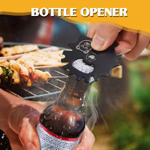 Bottle opener BBQ Grill Scraper Cleaner Home Kitchen Cooking Gadgets Tool