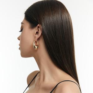 Chunky Hoop Earrings for Women