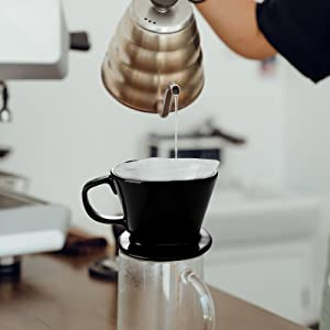 Pour Over Coffee Dripper - Single Cup Ceramic Coffee Maker