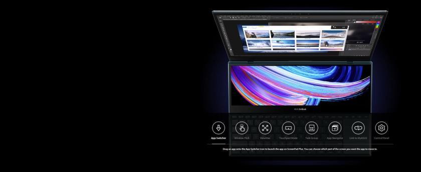 ScreenPad Plus: Window Flick