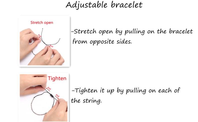 Adjustable strand bracelets for women