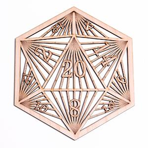 fourth level manufacturing laser cut wood wall art fantasy fiction d20 dungeons and dragons