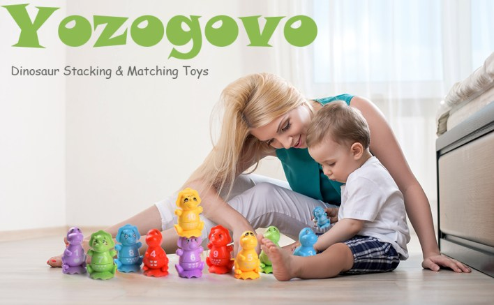 dinosaur stacking toys