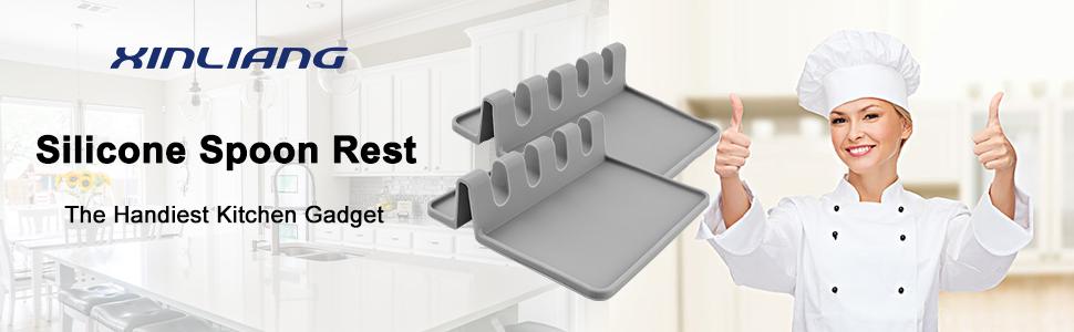 XINLIANG Silicone Spoon Rest The Handiest Kitchen Gadget