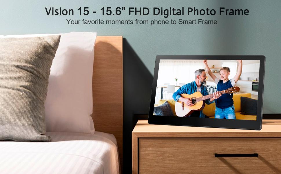 WiFi photo frame support frameo APP