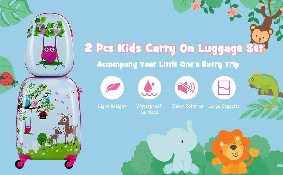 honey joy carry on luggage set