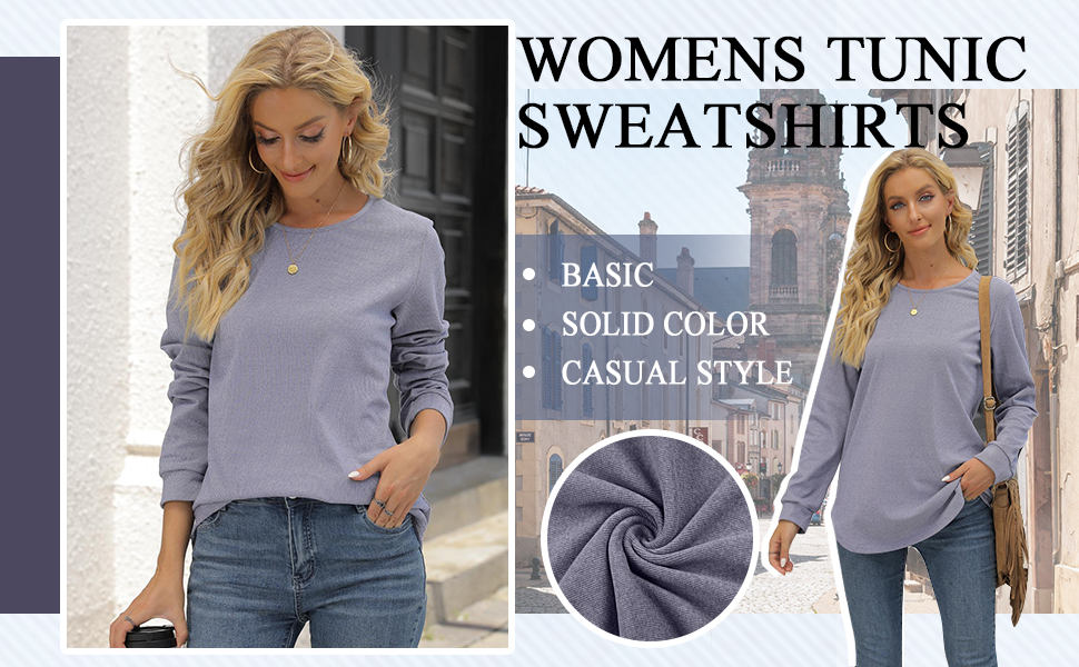 tunic sweatshirts for women