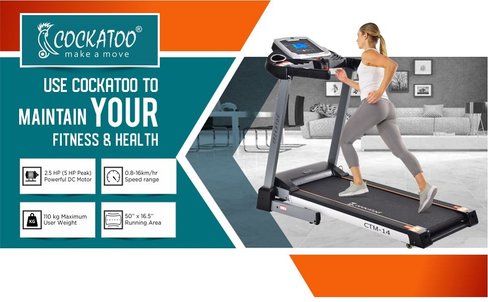 Cockatoo DC Motorized Treadmill for Home maintain your fitness