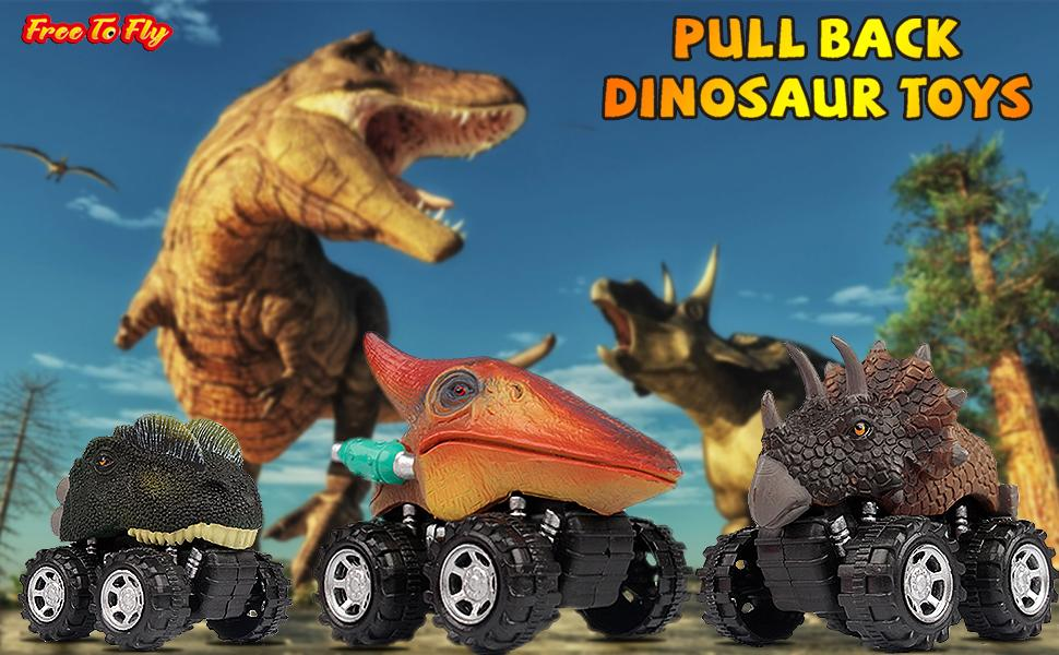 dinosaur toys pull back cars
