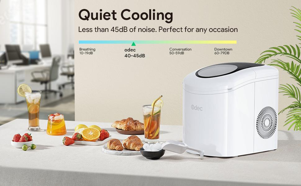 2.1L Electric Ice Maker with Scoop and Basket for Home Kitchen Office Bar