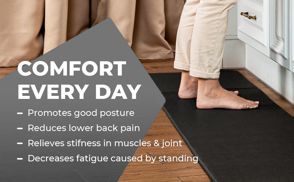 Comfort Every Day Promotes good posture reduces pain relieves stiffness in muscles
