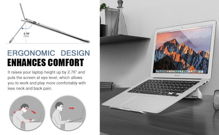 Ergonomic Laptop Stand for Office Home Desk Online classes