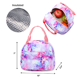 girls backpack with lunch box