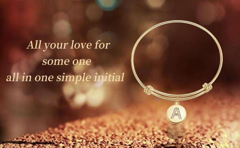 All your love for some one, all in one simple initial