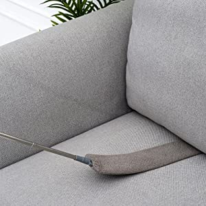 Microfiber duster is bendable easily, help you easily clean hard-to-reach areas