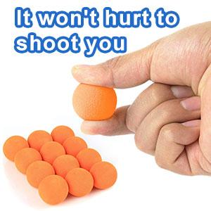 It won't hurt to shoot you