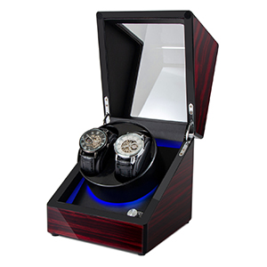 Automatic watch chain feeder led blue background light
