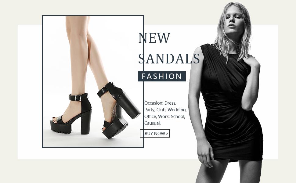 Goth Platform Sandals for Women