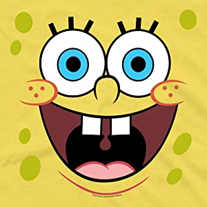 spongebob sqaurepants face yellow clothing merch