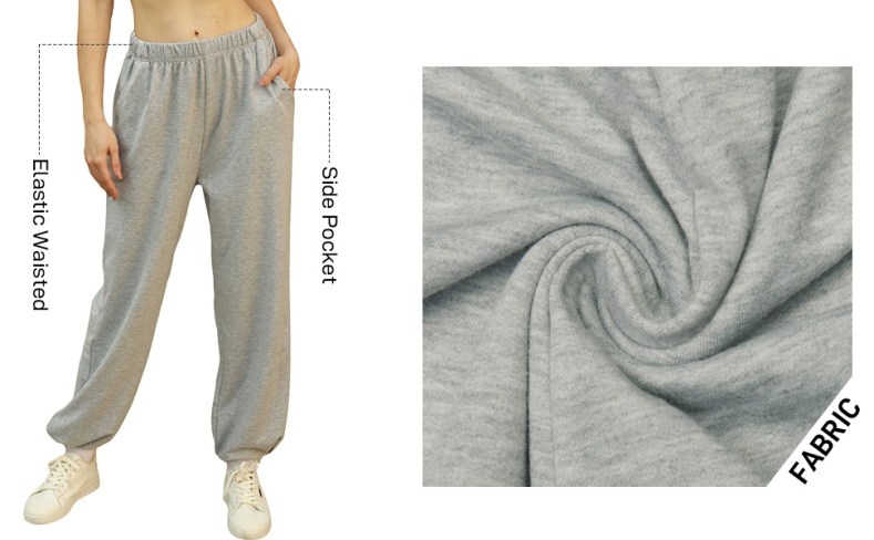 Cotton Active Bottoms for Women Breathable soft french terry with stretch for extra comfort