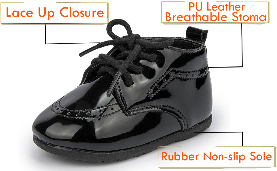 Boy's Girl's Classic Lace-Up Uniform Oxford Comfort Dress Shoes Loafer Flats