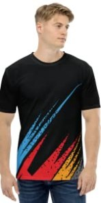 NEXSP084, JERSEY FOR MEN, BLACK AND MULTICOLOR