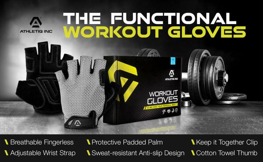 Athletiq Inc Functional Workout Gloves for men and women