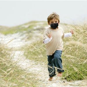Kids Black Disposable Face Masks