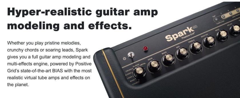 guitar amp positive grid combo spark guitar amplifier practice acoustic electric guitar amp
