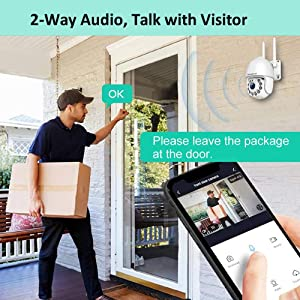 security camera with 2 way audio, home security camera, cameras for home security