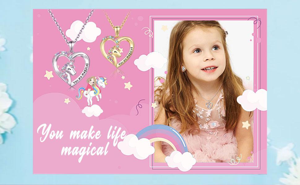 Unicorn Necklace for Girls Unicorn Girls Jewelry Birthday Gifts