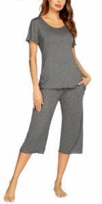 gray pajamas set