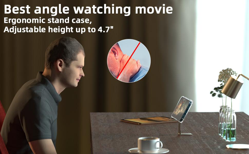 Best angle watching movie