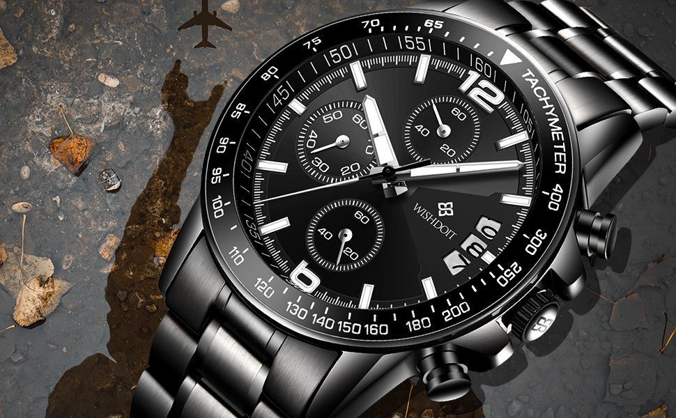 Chronograph Men's Watch Black Watch