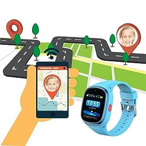 kids gps smartwatch phone position tracker 4g net watch boys girls history track