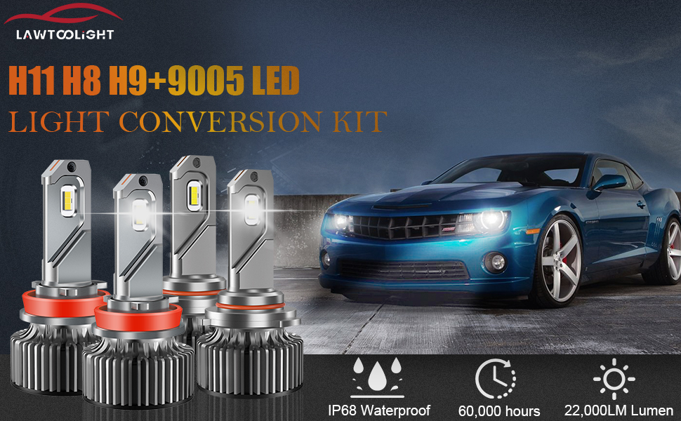 H11 9005 LED Headlight Combo