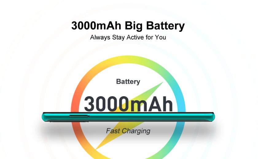 3000mAh battery capacity